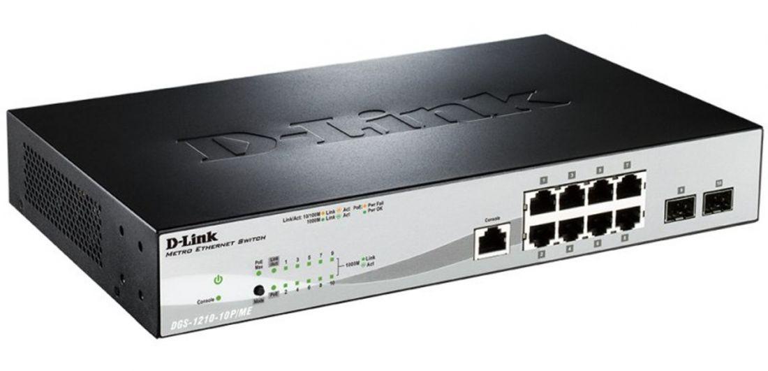 Коммутатор D-link DGS-1210-10P/ME