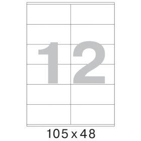 73569 / 641805 Этикетки самоклеящиеся MEGA LABEL 105х48 мм / 12 шт. на листе А 4 (100 листов в пачке)