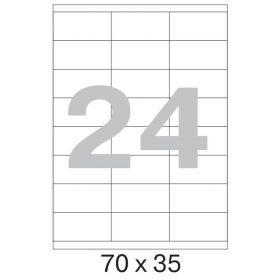 73627 Этикетки самоклеящиеся Promega label белые 70х35 мм (24 штуки на листе А4, 100 листов в упаковке)