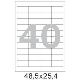 73578 Этикетки самоклеящиеся Promega label белые 48.5х25.4 мм (40 штук на листе А4, 100 листов в упаковке)