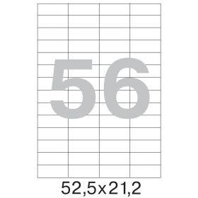 73577 Этикетки самоклеящиеся Promega label белые 52.5х21.2 мм (56 штук на листе А4, 100 листов в упаковке)