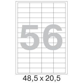 73645  Этикетки самоклеящиеся Promega label белые 48.5x20.5 мм (56 штук на листе А4, 100 листов в упаковке)