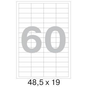 73646 Этикетки самоклеящиеся Promega label белые 48.5х19 мм (60 штук на листе А4, 100 листов в упаковке)