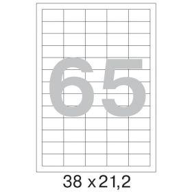73580 Этикетки самоклеящиеся Promega label белые 38х21.2 мм (65 штук на листе А4, 100 листов в упаковке)