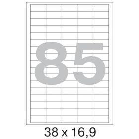 73649 Этикетки самоклеящиеся Promega label белые 38х16.9 мм (85 штук на листе А4, 100 листов в упаковке)