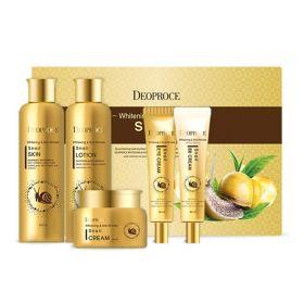 DEOPROCE Whitening & Anti-Wrinkle Snail 5 Set - Набор средств с улиточным муцином для осветления и разглаживания кожи