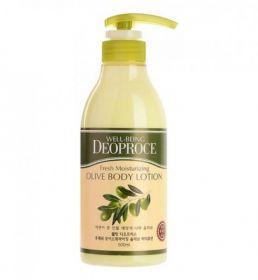DEOPROCE Well-Being Fresh Moisturizing Body Lotion 500ml - Увлажняющий лосьон для тела с маслом оливы