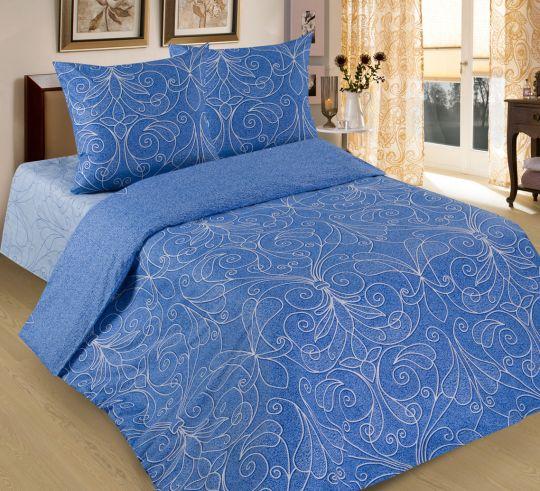 Жемчужина (голубая) постельное белье бязь