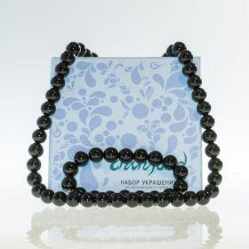 Турмалиновый браслет и турмалиновые бусы (Набор украшений браслет и бусы)