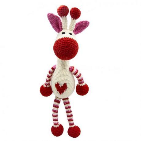 Игрушка вязанная  Влюбленный жираф