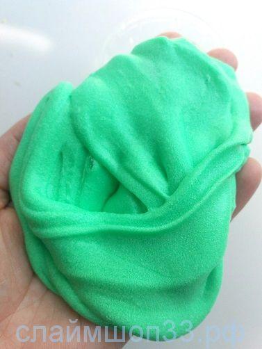 Слайм Зефирка зеленое яблоко 120 гр