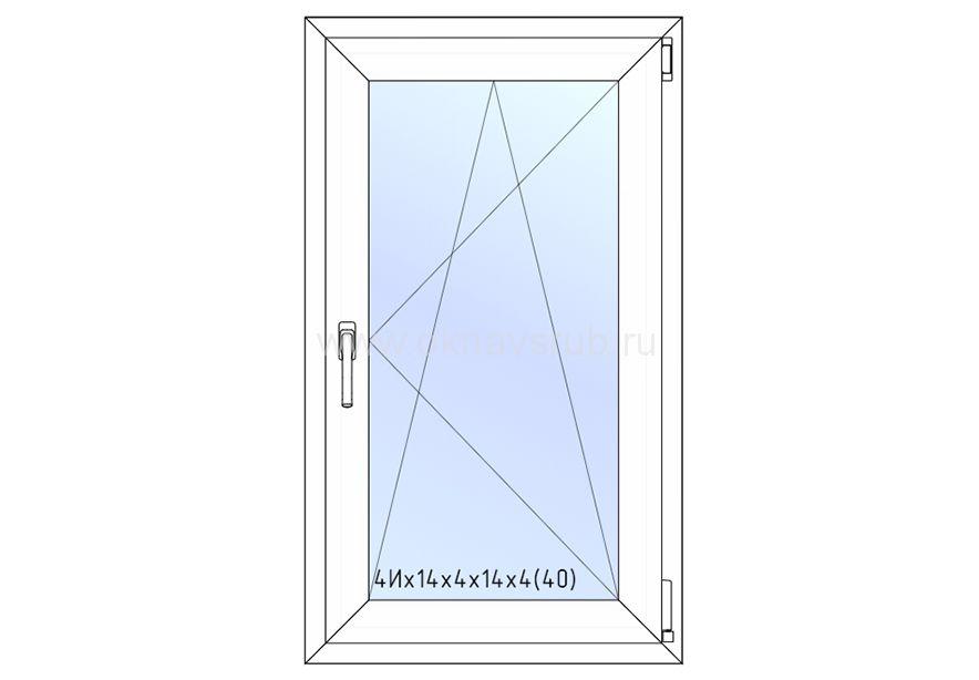Окно REHAU 700х1200 поворотно-откидное