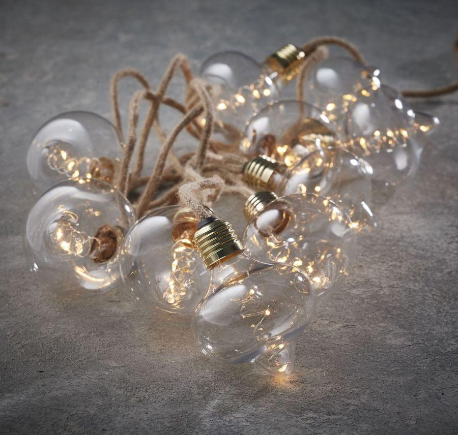Гирлянда ретро на бечевке с 10  лампочками