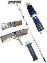 Скребок для уборки снега с крыши алюминиевая насадка с телескопической ручкой