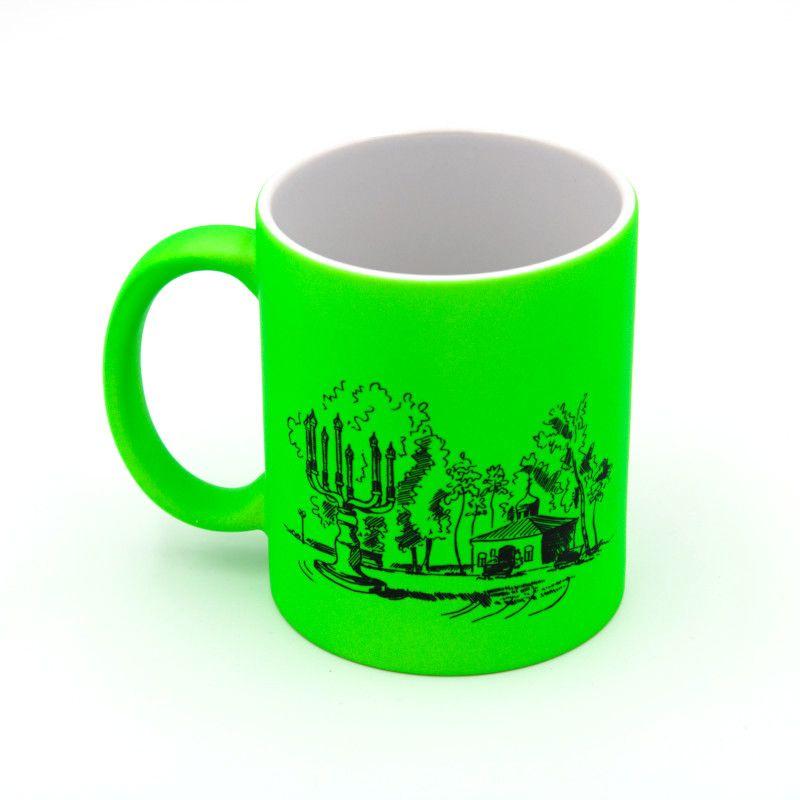 "Кружка флюоресцентная ""Канделябр"" зеленая"