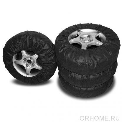 Чехлы для хранения колес, комплект из 4-х штук, на резинке