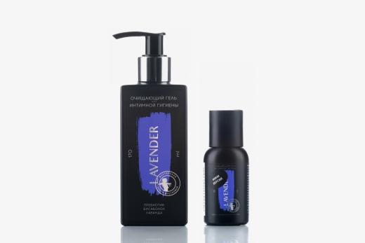 Lavender для интимной гигиены гель очищающий пребиотик бисаболол лаванда, 170мл