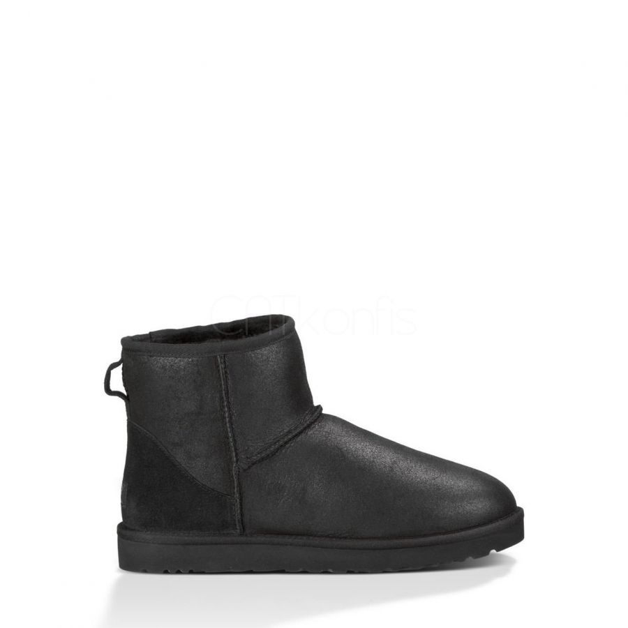 "UGG CLASSIC MINI BOOT LEATHER ""BLACK"""
