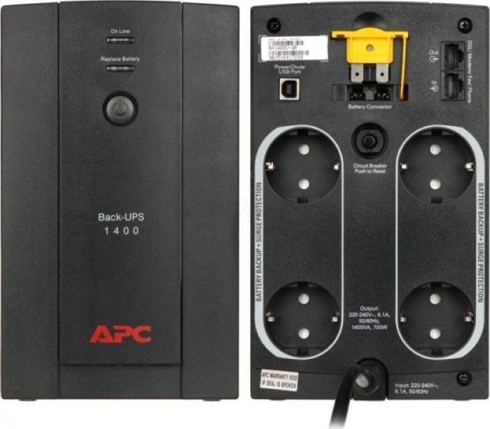 Интерактивный ИБП APC by Schneider Electric Back-UPS BX1400U-GR