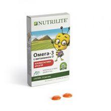 Омега-3 с витамином D желейные пастилки для детей. 30 шт.
