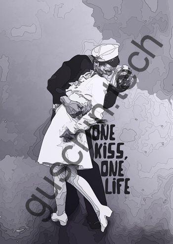 "Декоративная панель ""Guschin"" & ""Саша Крамар"" - ""One kiss-one life"""