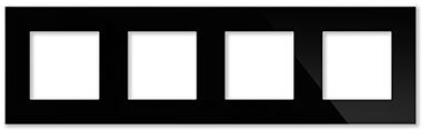 Рамка черная CGSS P104 BC (без механизмов)