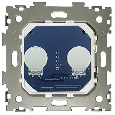 Выключатель сенсорный на две линии с ДУ CGSS WT-M02R (механизм)