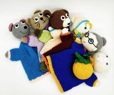 Набор ручных кукол для сказки Репка