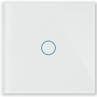 Однолинейная панель стеклянная белая CGSS WT-P01W