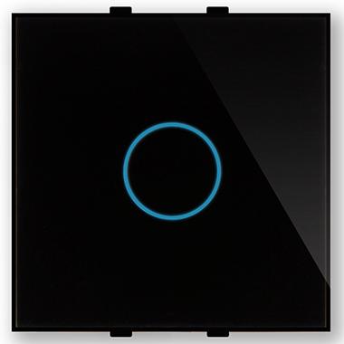"""Однолинейная панель стеклянная черная в рамку """"Эстетика"""" CGSS GL-PN01B"""