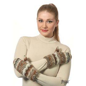 Варежки женские вязаные из Исландской шерсти 08414-47