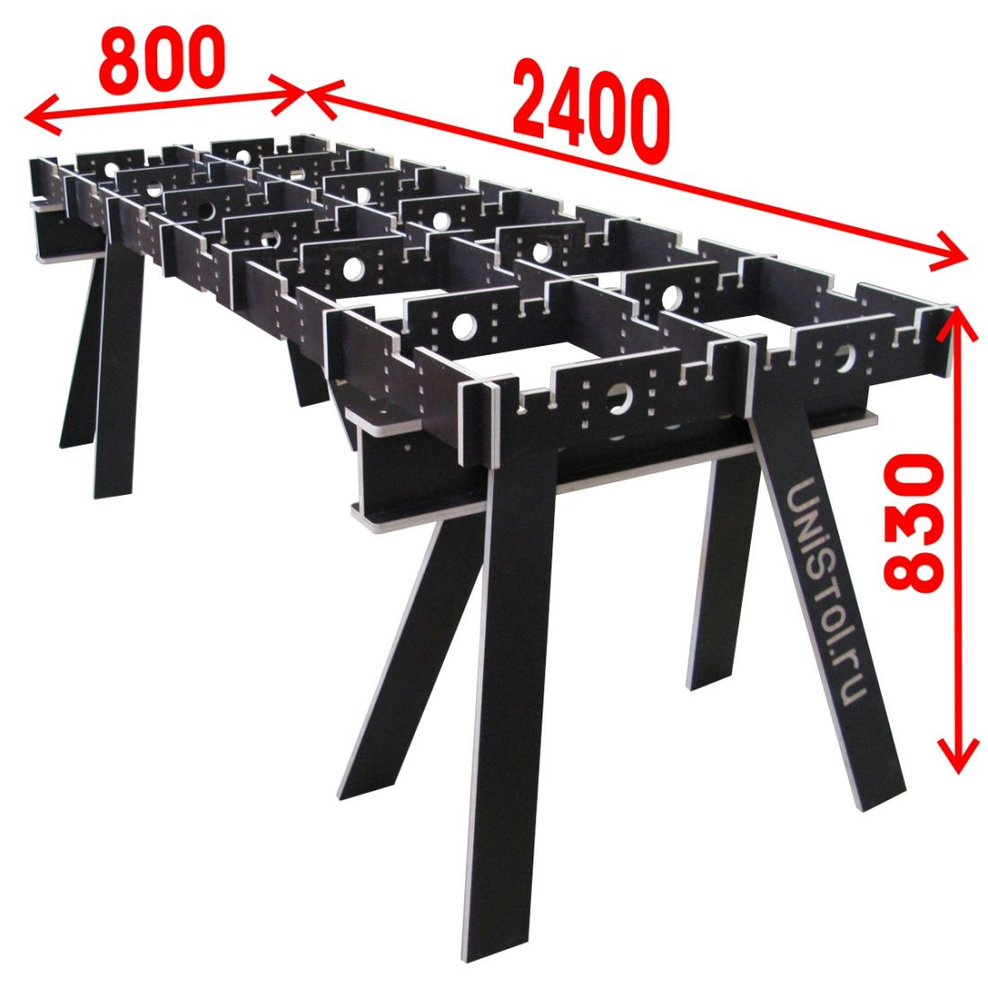 Ячеистый стол для раскроя листовых материалов 800х2400 мм без столешницы