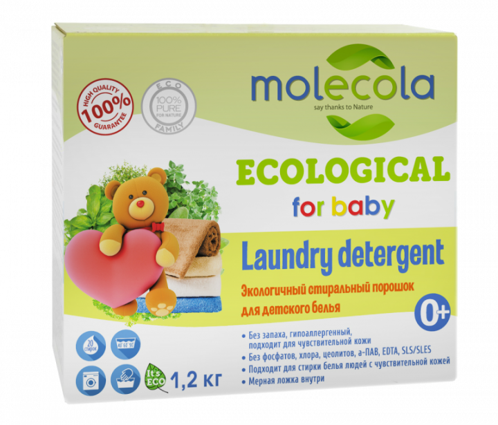 Экологичный стиральный порошок для детского белья, 1,2кг