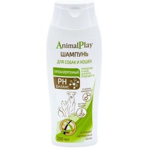 Шампунь Энимал Плэй д/собак и кошек Гипоаллергенный с аминокислотами и экстрактом шалфея 250мл