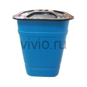 Бочка-бак 250л с крышкой 700*1000мм пластик