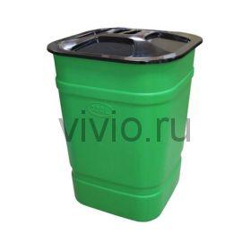 Бочка-бак 300л с крышкой 685*1000мм пластик
