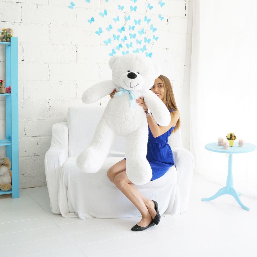 Мишка Федор ОР-125см Длина-105см Белый