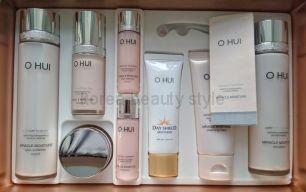 O HUI Miracle moisture special set -  подарочный набор из 5 уходовых средств увлажняющей линии MIRACLE MOISTURE и новейшего солнцезащитного средства от бренда O HUI