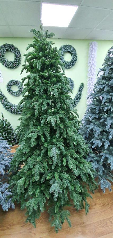 Искусственная елка Нормандия пушистая 185 см темно-зеленая