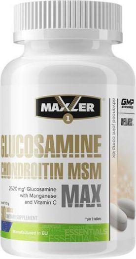 GLUCOSAMINE CHONDROITIN MSM MAX (MAXLER), 90 таблеток