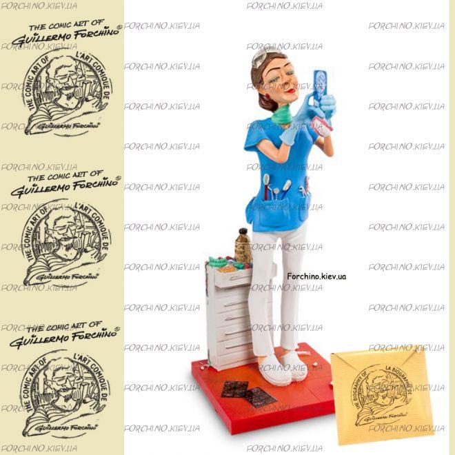 """Фигурка женщина стоматолог 84012 """"Lady Dentist. Forchino"""""""