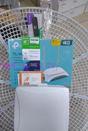 комплект №4 для самостоятельной установки 3/4G интернет 24Дби