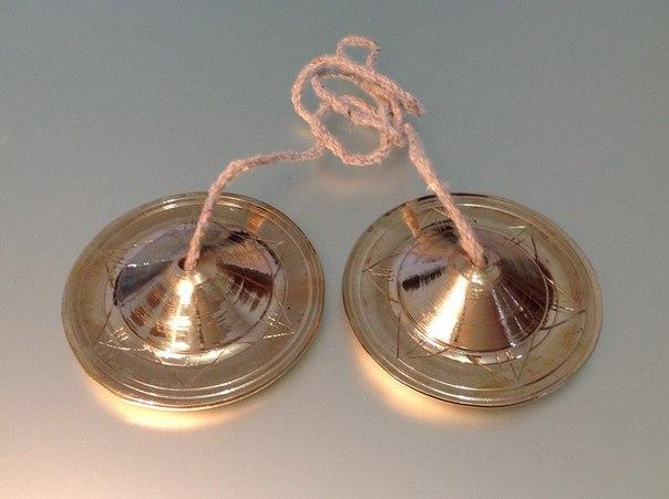 Караталы, диаметр 80 мм, колокольная медь, производитель Ганготри(Вриндаван)