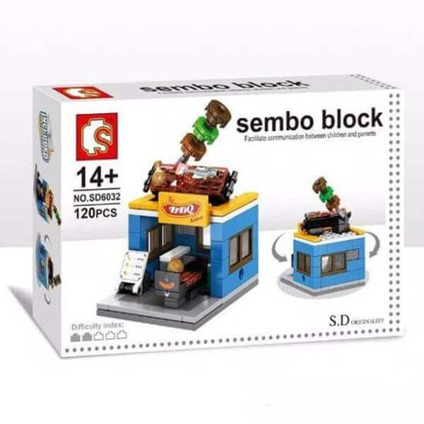 Конструктор Sembo Block Mini World. BBQ