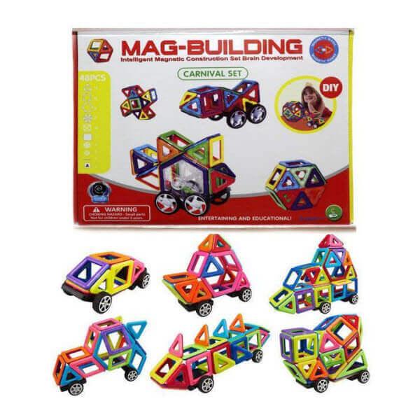Магнитный конструктор Mag Building. 48 деталей