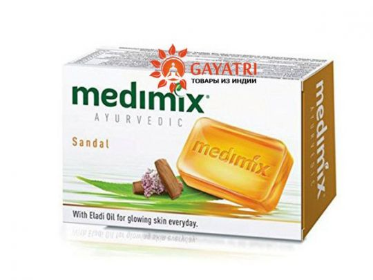 Аюрведическое мыло с маслом Сандала и Элади. Medimix ayurvedic sandal 125 гр