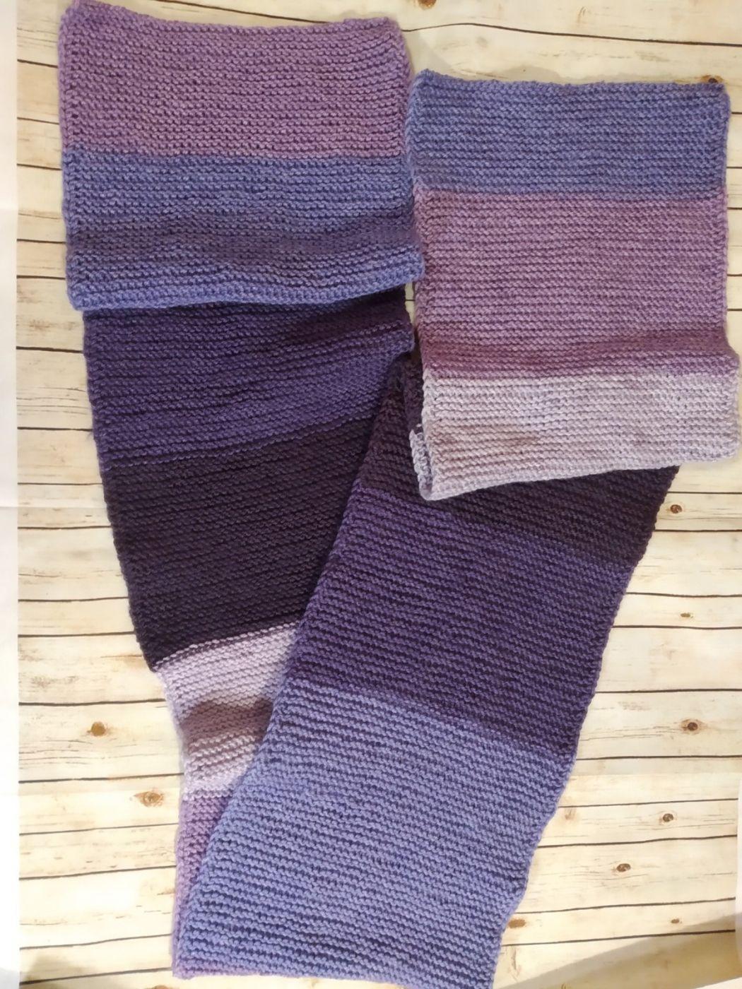 Вязаный шарф широкий теплый
