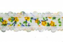 Тесьма декоративная 0385-6170, шир. 25 мм, цвет 01-жёлтый