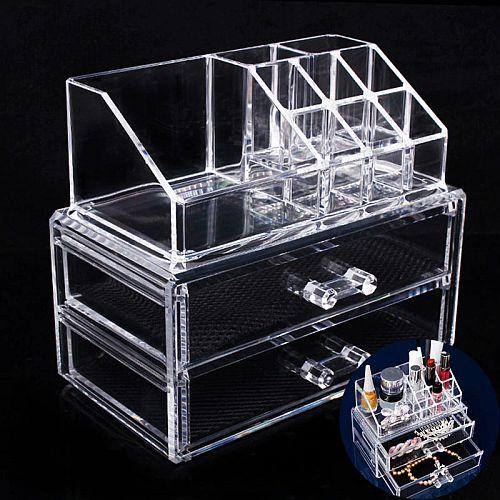 Акриловый органайзер для косметики Cosmetic Storage Box (2 ящика)