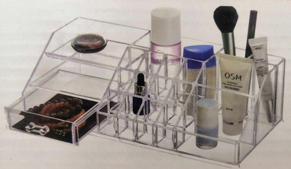 Акриловый органайзер для косметики Multi-Functional Storage Box QFY-3133, Прозрачный